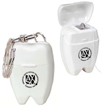 Mini Tooth Dental Floss Keychain